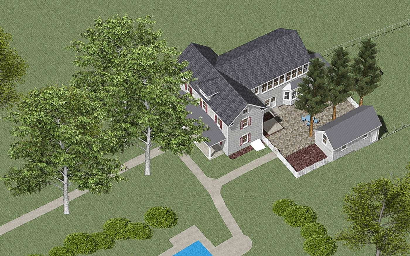 Warm Springs Courtyard Overview 1