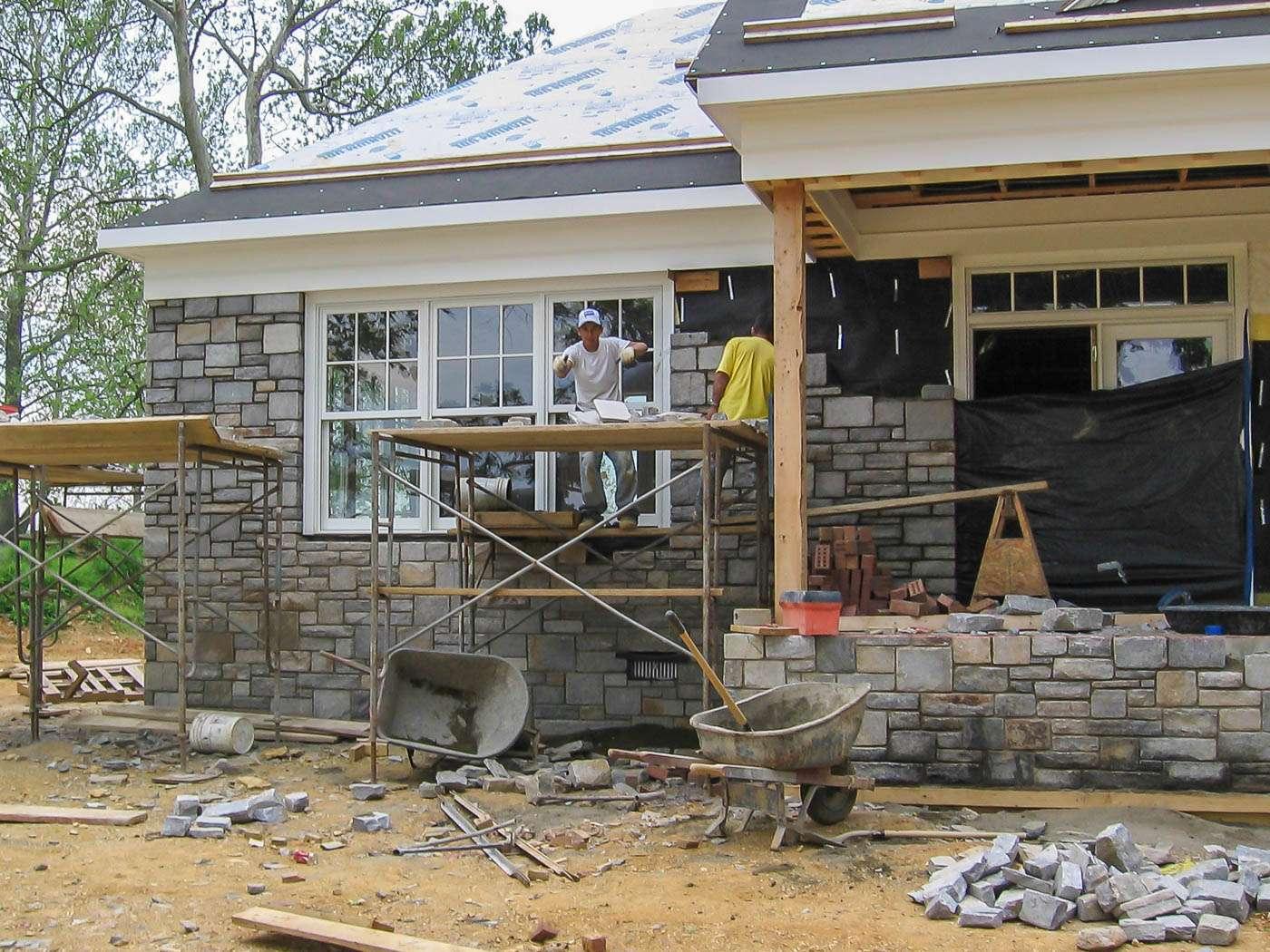Shenandoah Stone Cottage Construction 3
