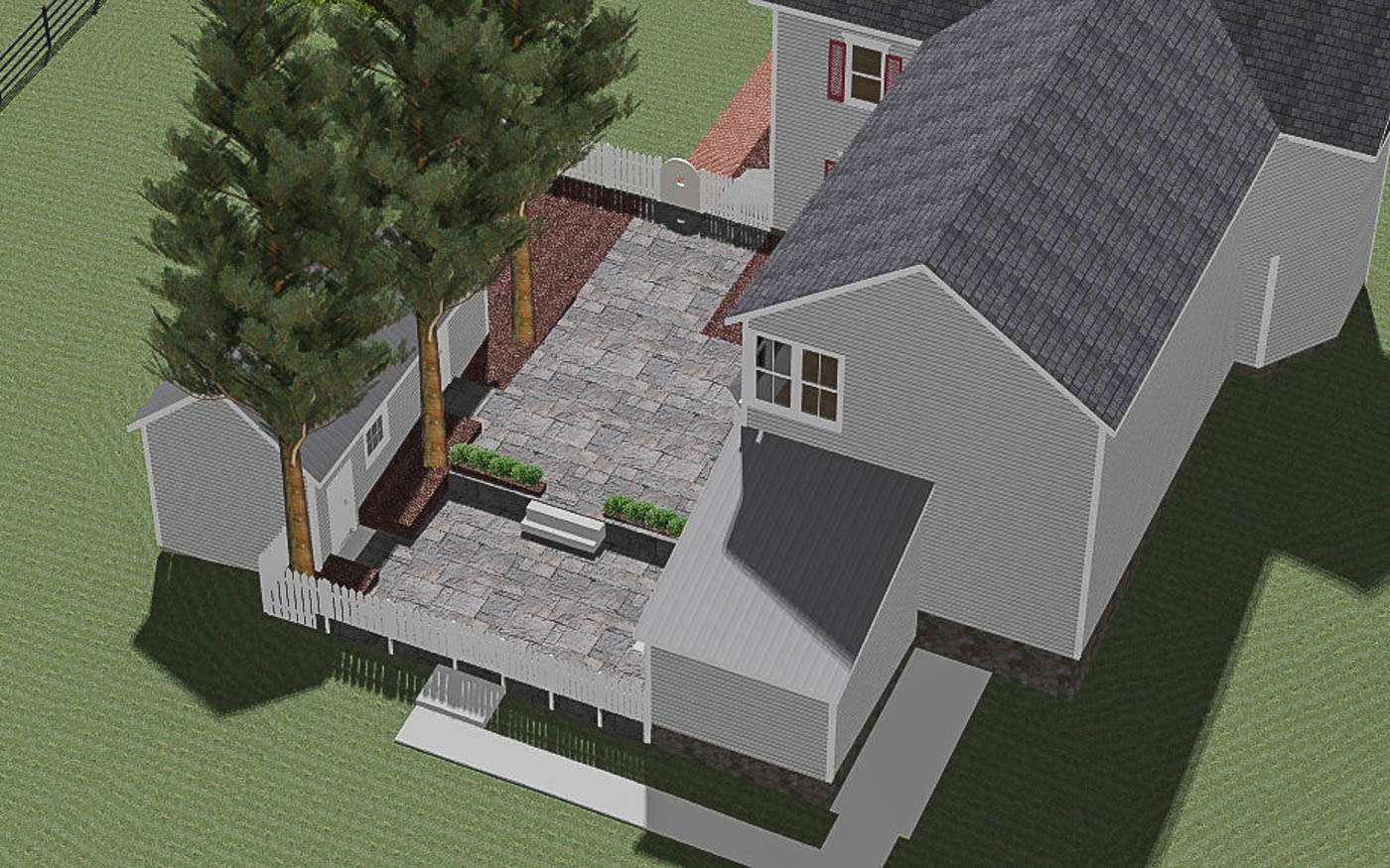 Warm Springs Courtyard Overview 3