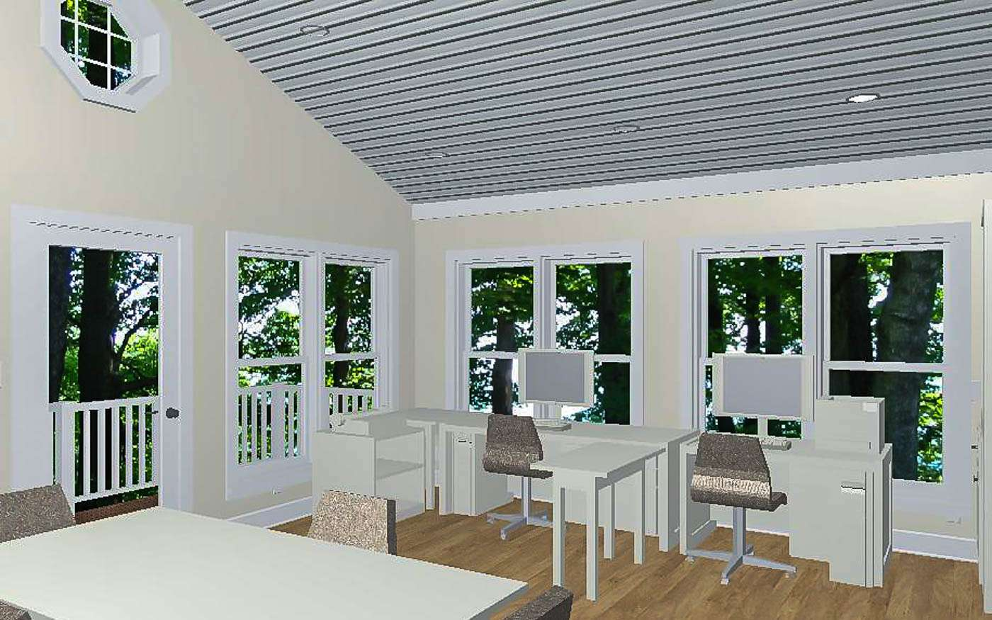 Willlowdale Home Office Interior 2