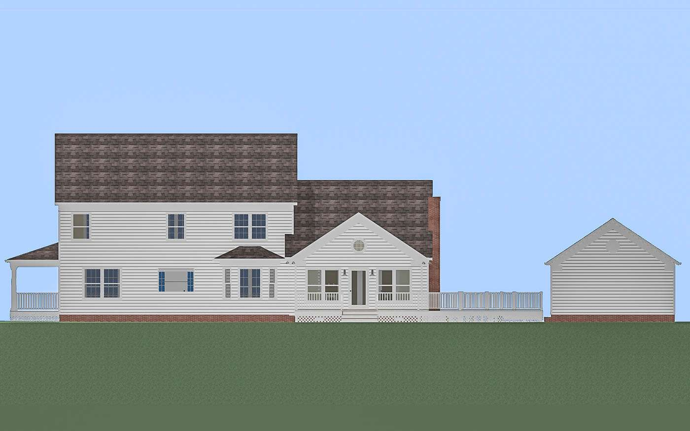 Willlowdale Home Office W Elevation