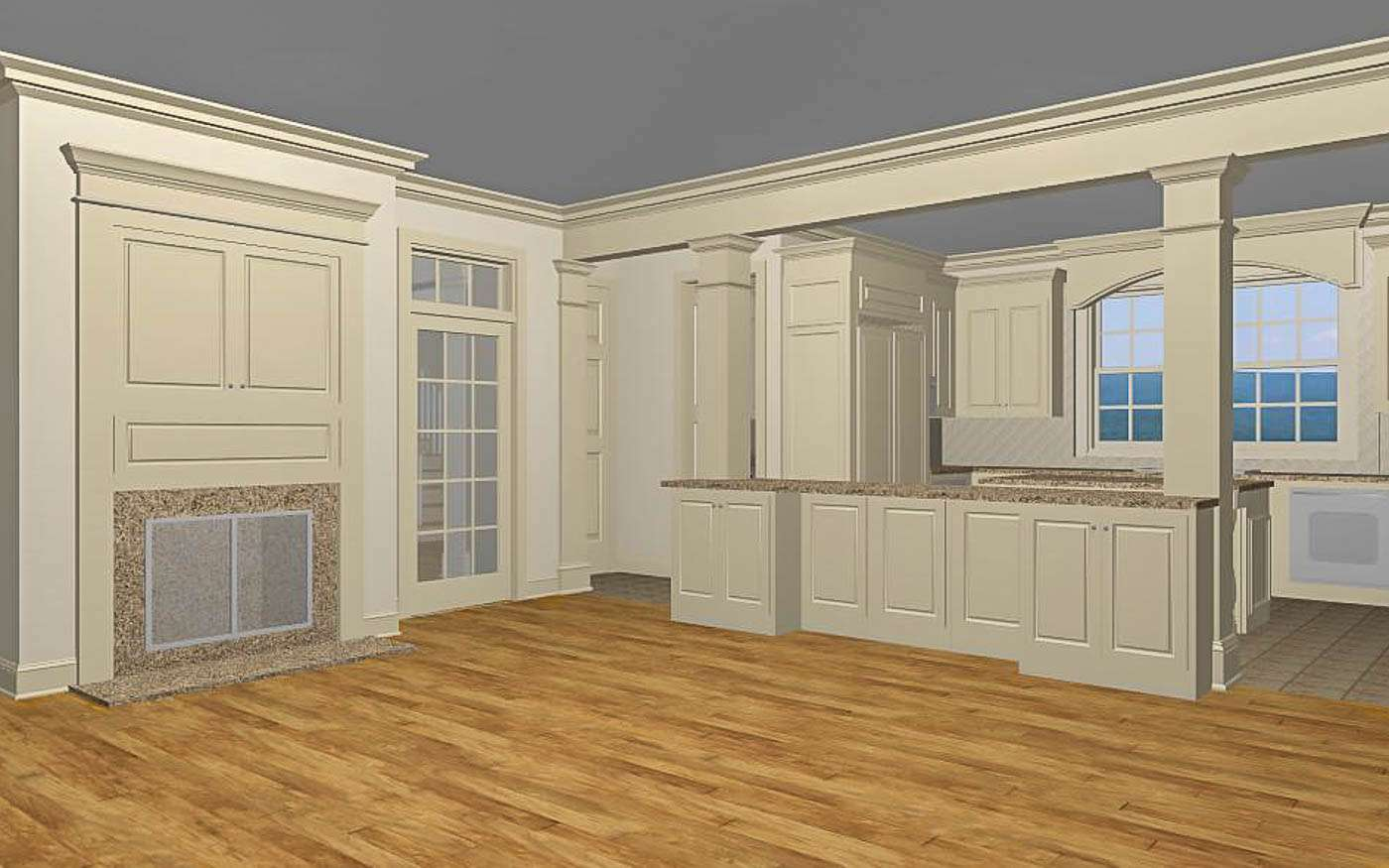 Green Hill Manor Family to Kitchen 1